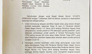 Pilkades Kabupaten Bekasi Ditunda, Ini Penyebabnya