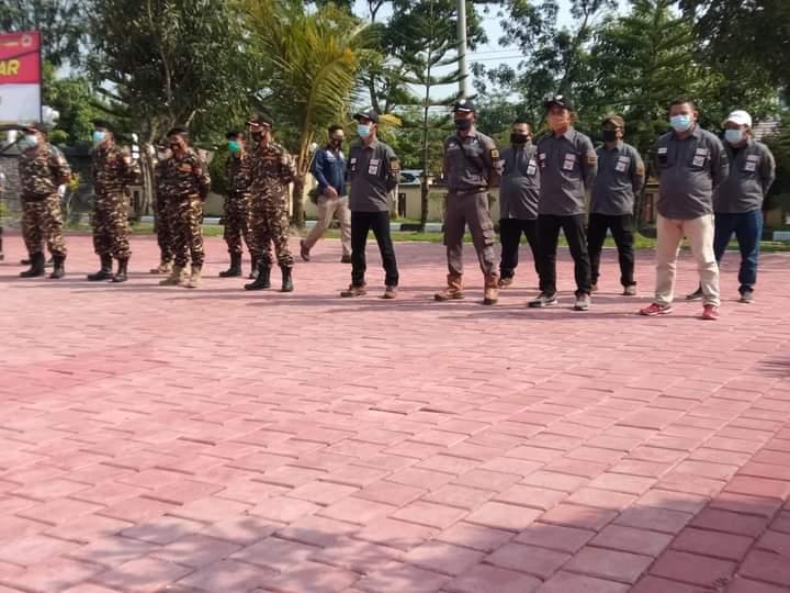Ormas Jarum Ikuti Apel Kebangsaan Tiga Pilar, TNI-POLRI dan Pemda Lebak